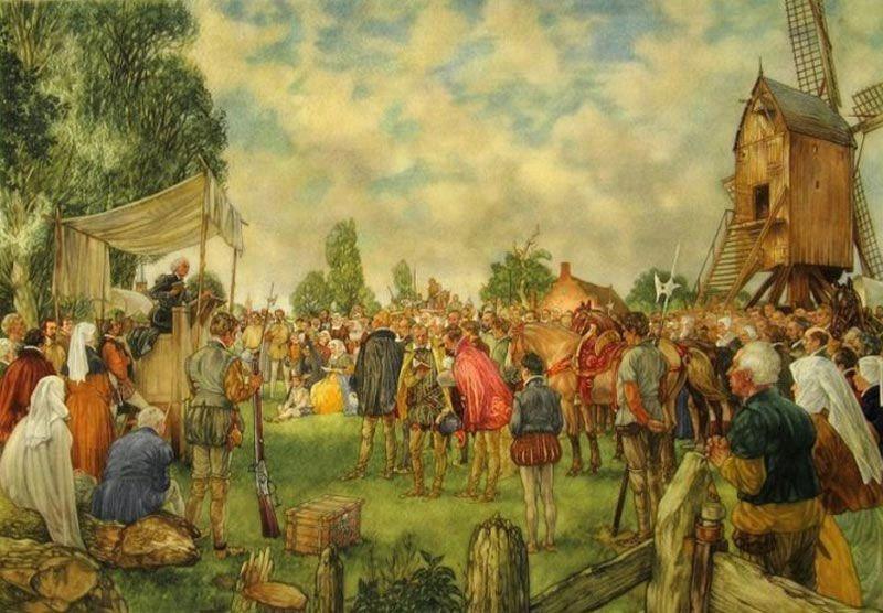 Hagepreek tussen Den Haag en Delft in augustus 1566.